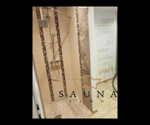 SAUNA KING Nischenlösung Glasdusche (B:90 cm H:200cm) -  in 4 Glasfarben