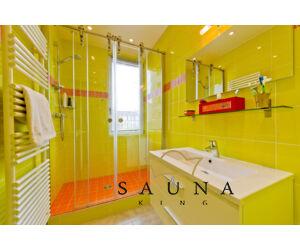 SAUNA KING Nischenlösung Glasdusche (B:100 cm H:200cm) -  in 4 Glasfarben