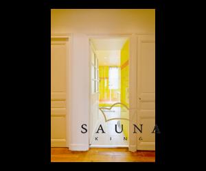 SAUNA KING Nischenlösung Glasdusche (B:120 cm H:200cm) -  in 4 Glasfarben