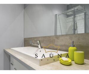 SAUNA KING Glas-Eckdusche (90x90cm H:200cm) in 4 Glasfarben