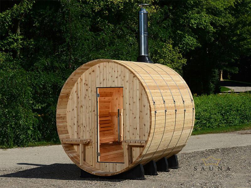 Fass-Sauna Grandview zum Selbstbau (Aussensauna)