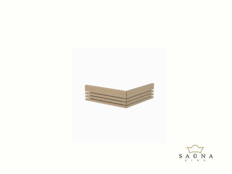Sentiotec Holzreling groß, 2-seitig für Qube Saunaofen