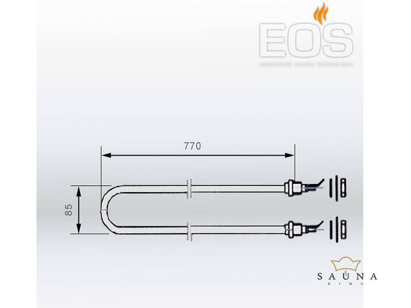 EOS Fűtőszál szaunakályhákhoz - 1500 W