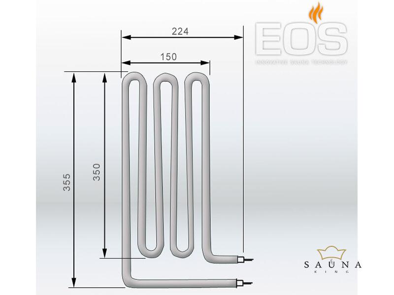 EOS Ersatzheizstab für Saunaöfen - 1500 W
