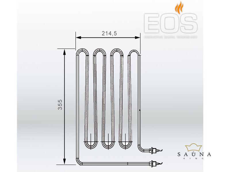 EOS Ersatzheizstab für Saunaöfen - 2500 W