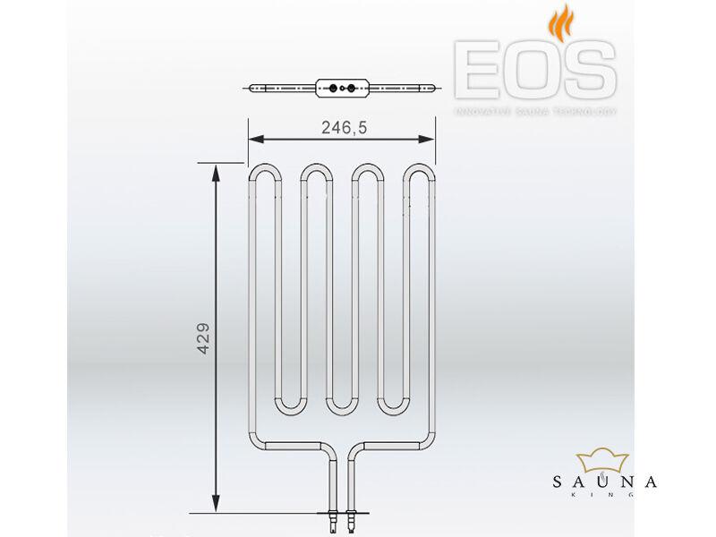 EOS Ersatzheizstab für Saunaöfen - 2666 W