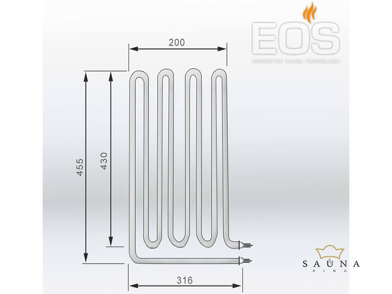 EOS Ersatzheizstab für Saunaöfen - 3000 W