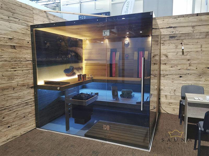 SAUNA KING finnszauna digitálisan nyomtatott üveggel, 230x200 cm (5.sz)