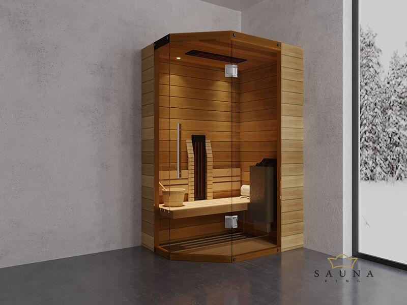 SAUNA KING Finn+Infra kombinierte Sauna Mallorca für 1-2 Personen