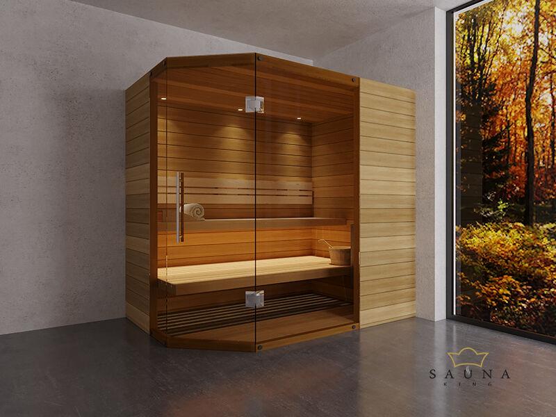 SAUNA KING Finn+Biokombinierte Sauna Mallorca für 2-3 Personen