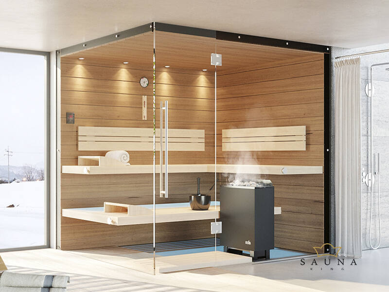 SAUNA KING Finn+Bio kombinierte Sauna Teneriffa für 3-4 Personen