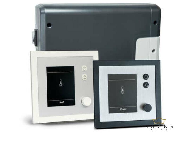 EOS Saunasteuerung EMOTEC H (Finnisch + Bi-O) Anthrazit/Silber oder Weiss/Silber
