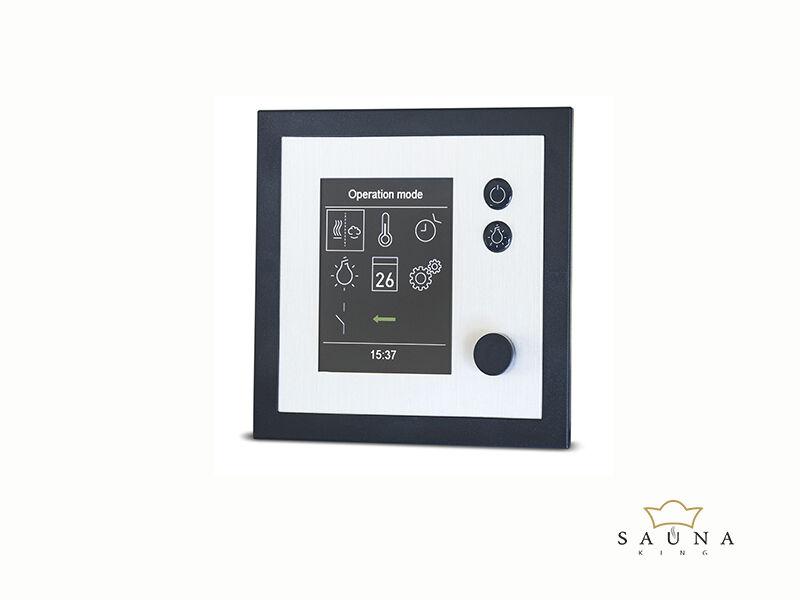 EOS szaunavezérlő EMOTEC H (Finn + Bi-O) antracit/ezüst, fehér/ezüst vagy antracit/fekete
