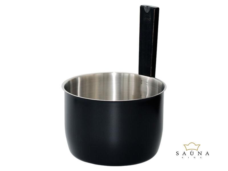 Szauna dézsa fémből trendi fekete színben