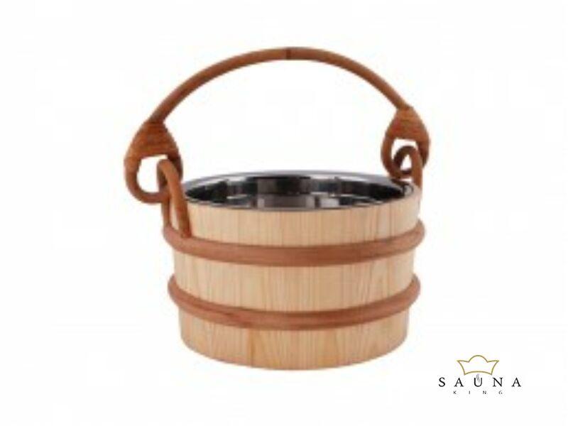 Saunakübel  mit Edelstahleinsatz, 4L