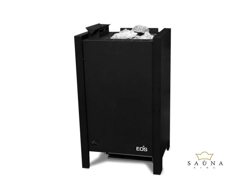 EOS Bio-Kombi szaunakályha Herkules S25 Vapor, Fekete 7,5 kW - 9 kW (kő nélkül)