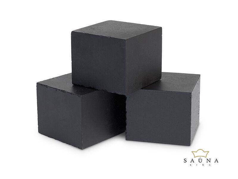 EOS Cubius Saunasteine für EOS Mythos Saunaofen (schwarz)