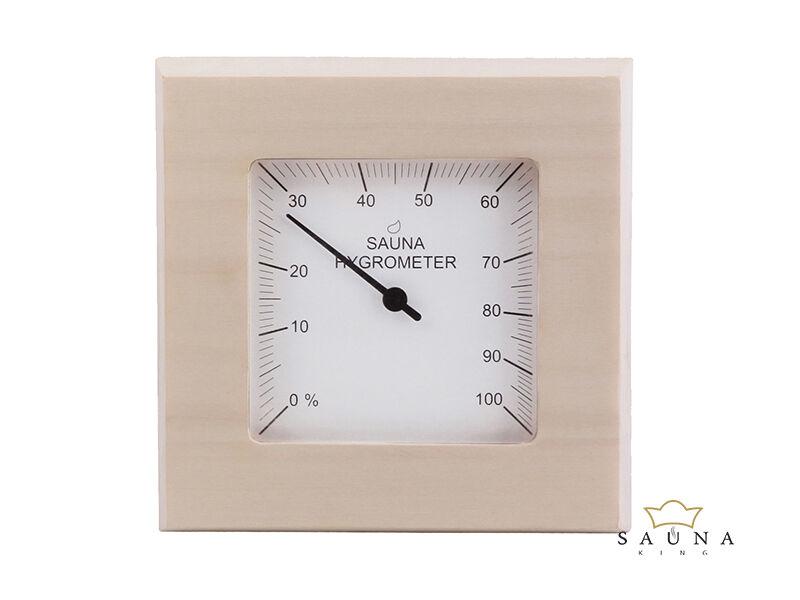 Thermometer Quadrat aus Espenholz