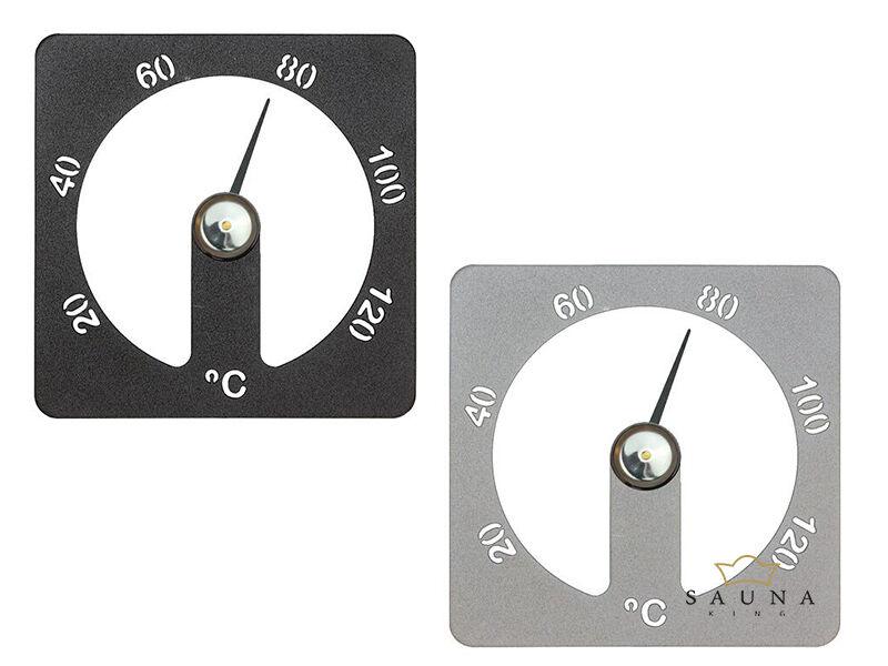 "Thermometer ""Cozmic"" aus Aluminium, grau oder schwarz"