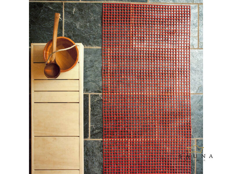 Kunststoff-Saunaläufer (Gittermatte) 10m Rolle, 80cm breit, in 8 Farben