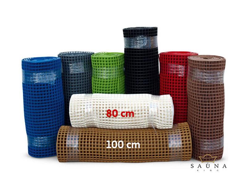 Műanyag futó lábrács folyóméterre, 100 cm széles  - 8 színben