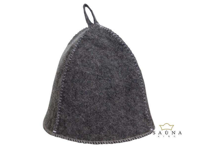 Sauna-Mütze aus Filz, grau