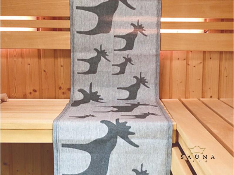 Original finnisches Sauna Sitz-Tuch Motiv Sauna