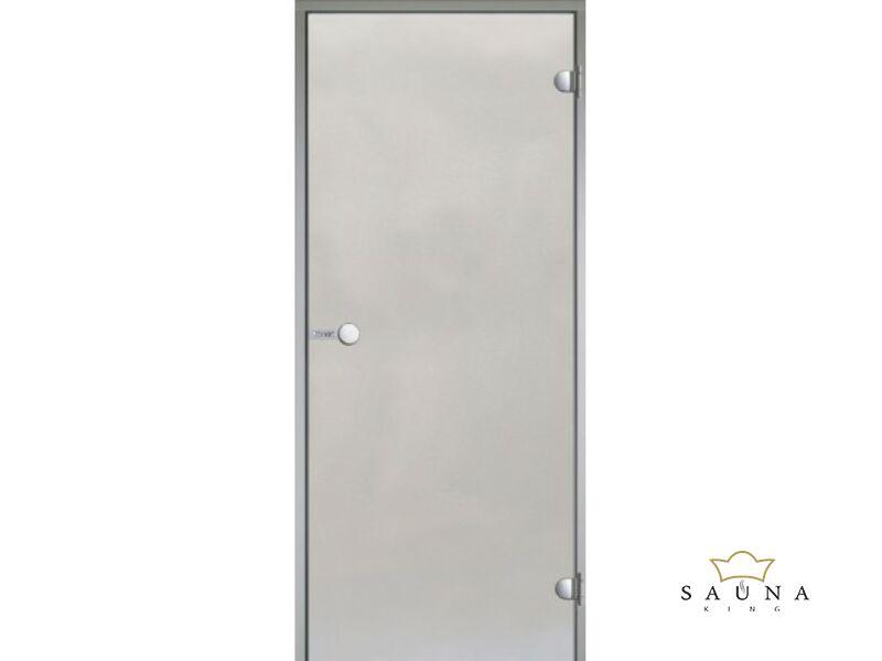 HARVIA üvegajtó alumínium kerettel, Szatén, 9x21