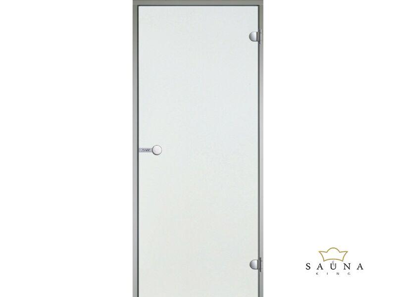 HARVIA üvegajtó alumínium kerettel, Víztiszta, 9x21