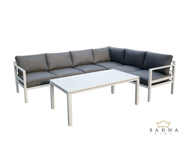 Bello Giardino Loungegruppe aus Aluminium in weiss, ALLUMINO GRANDE