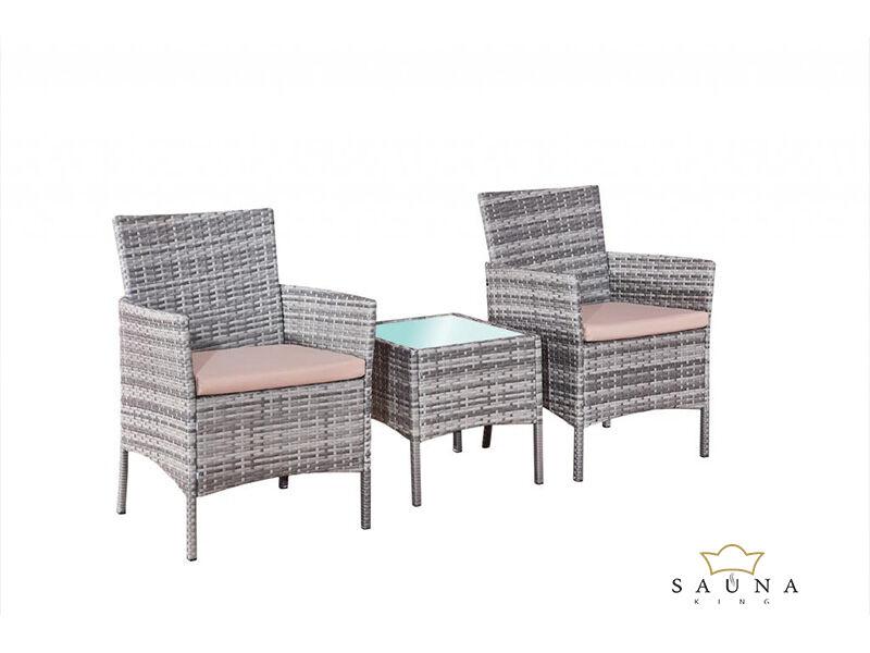 Bello Giardino műrattan ülőgarnitúra matt szürke színben, SANO