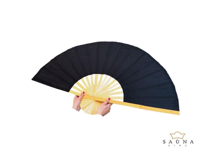 Finnsa szaunalegyező XL, (összecsukva 90cm, kinyitva 150cm) Fekete színben