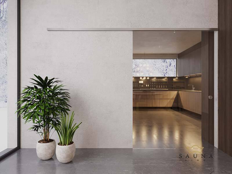 SAUNA KING Glas-Schiebetür III. 150 cm breit in 4 Glasfarben