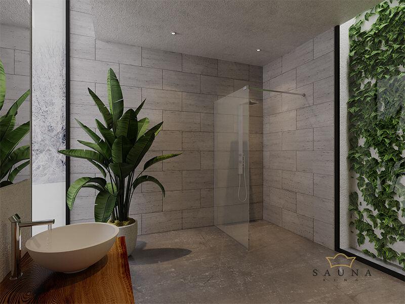 SAUNA KING WALK-IN Üveg zuhanyfal (SZÉ:100cm MA:200cm) 4 üvegszín választható