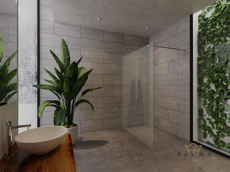SAUNA KING Zuhanyfal üveg (SZÉ:140cm MA:200cm) 4 üvegszín választható